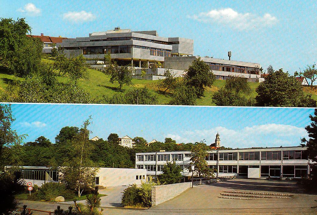 Postkarte der Hechinger Beruflichen Schule von 1973
